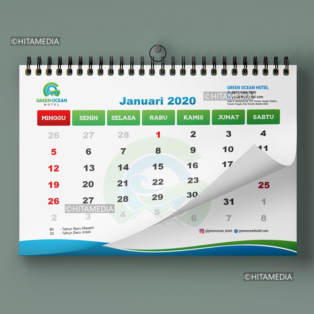 portofolio Harga Cetak Kalender Dinding 6 Lembar